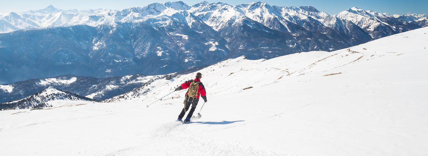 alpy - narciarz szusujący