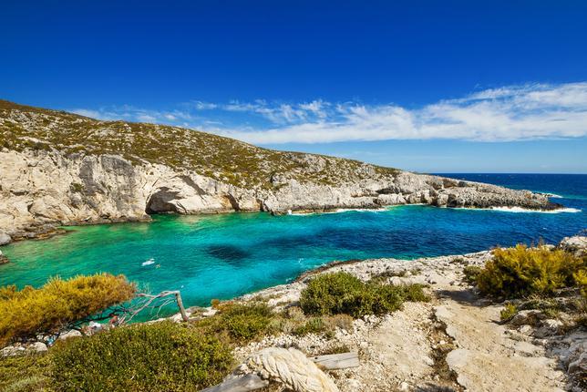 Plaża Porto Limnionas, Zakynthos - grecka wyspa